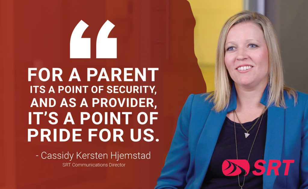 """""""For a parent its a point of security, and as a provider, it's a point of pride for us."""" - Cassidy Kersten Hjemstad"""