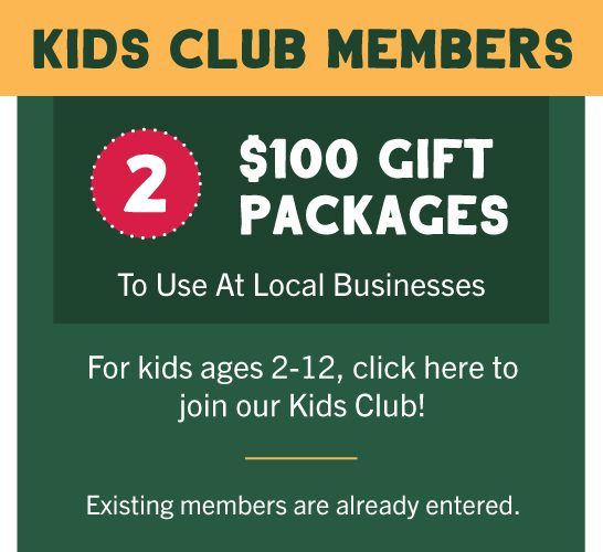 11th Annual Great Holiday Giveaway $500 gift package prize for United & Turtle Mountain Communications Kids Club members.